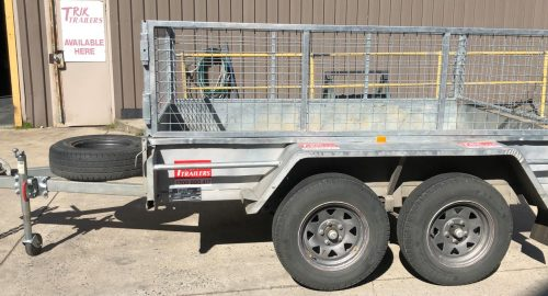 8X5 2T GVM, 1500KG PAYLOAD, CAGE TRAILER